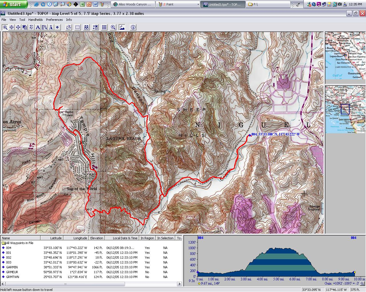 Current Image is BFelsted/Aliso_Woods_Canyon_topo.JPG Clicking here will display Aliso_Crieek_Trail_log.JPG
